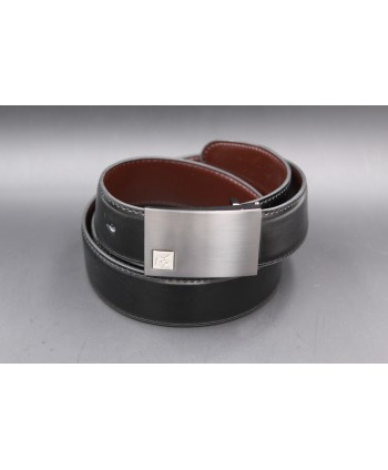Reversible black and brown Lamarthe belt - LAM16