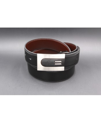 Reversible black and brown Lamarthe belt - LAM5