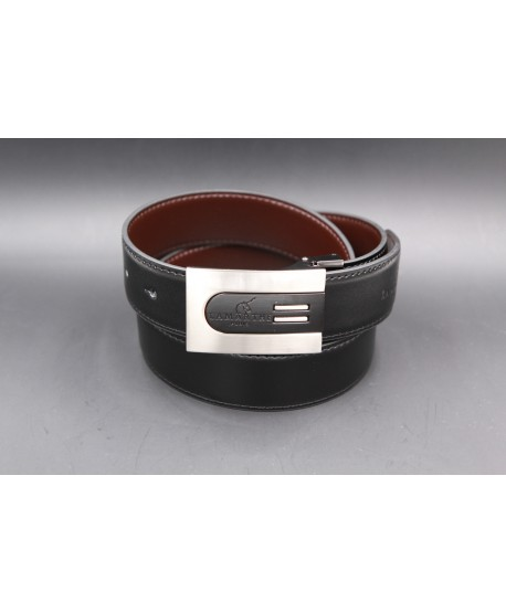 Reversible black and brown Lamarthe belt - LAM5