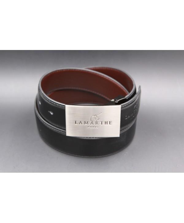 Reversible black and brown Lamarthe belt - LAM2