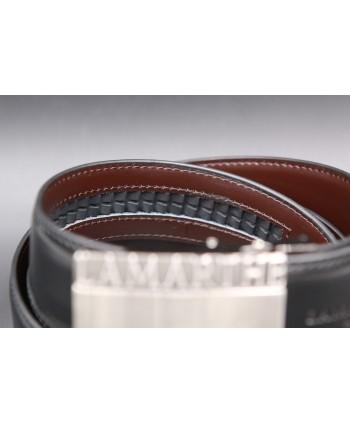 Ceinture Lamarthe réversible noir et marron - LAM01 - détail système automatique