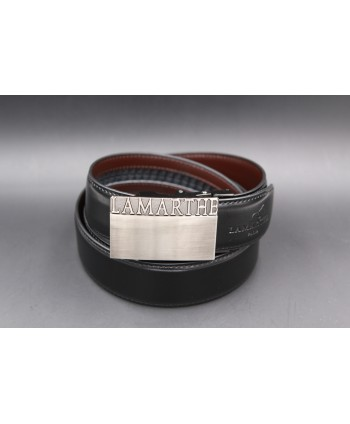 Reversible black and brown Lamarthe belt - LAM01