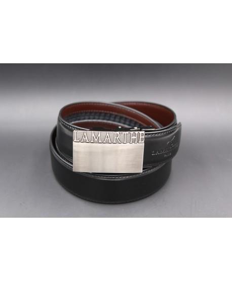 Reversible black and brown Lamarthe belt - LAM01