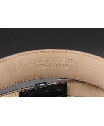 Black alligator skin belt width 30 - back detail