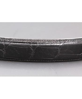 Ceinture en peau d'alligator noire - détail peau 2
