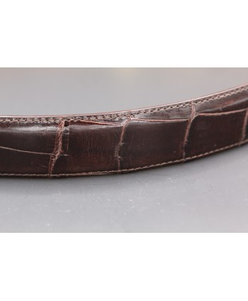 Chocolate alligator skin belt width 30 - skin detail