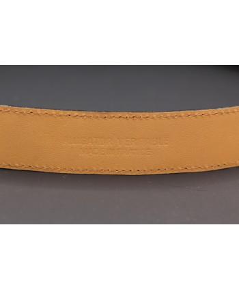 Belt in matt brown alligator skin - back detail