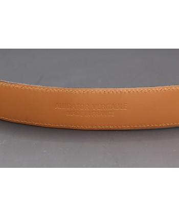 Navy alligator skin belt - back detail