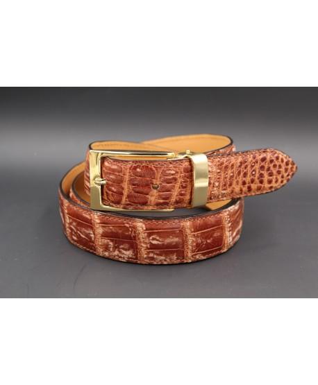 Alligator skin belt shade of gold