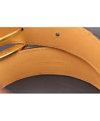 Alligator skin belt shade of gold - back detail