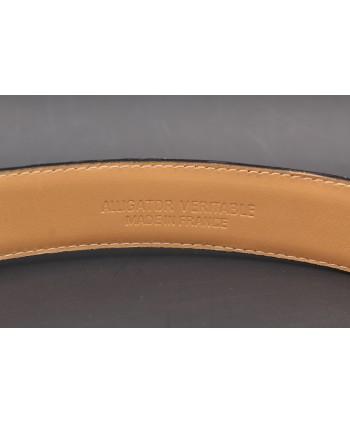 Honey alligator skin belt - back detail