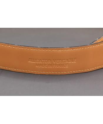 Beige alligator skin belt - back detail