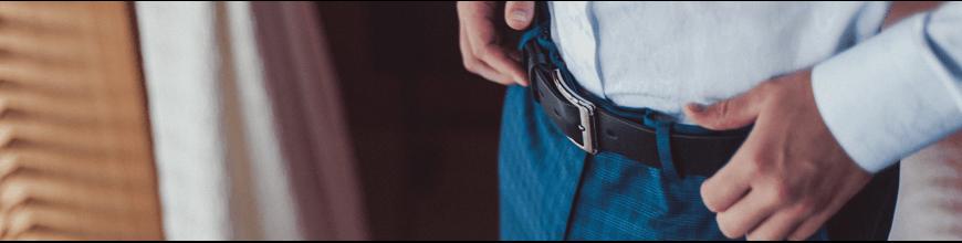 Belt with metal tip
