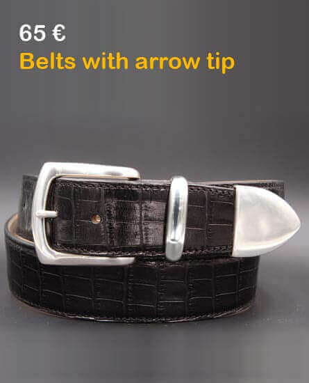 Belts with arrow tip