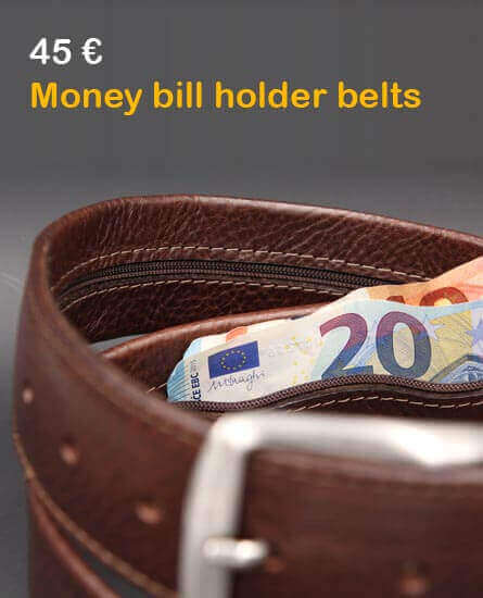Money bill holder belts