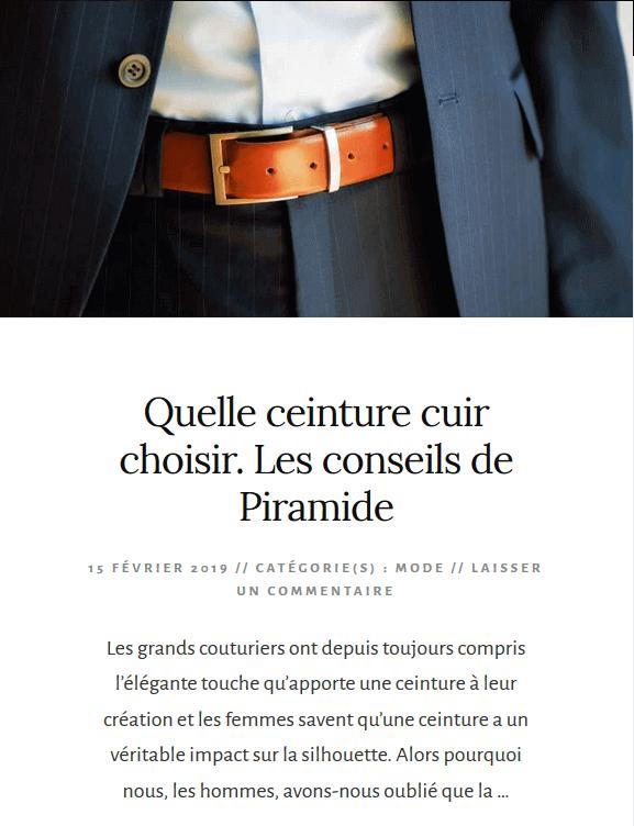 Quelle ceinture cuir choisir