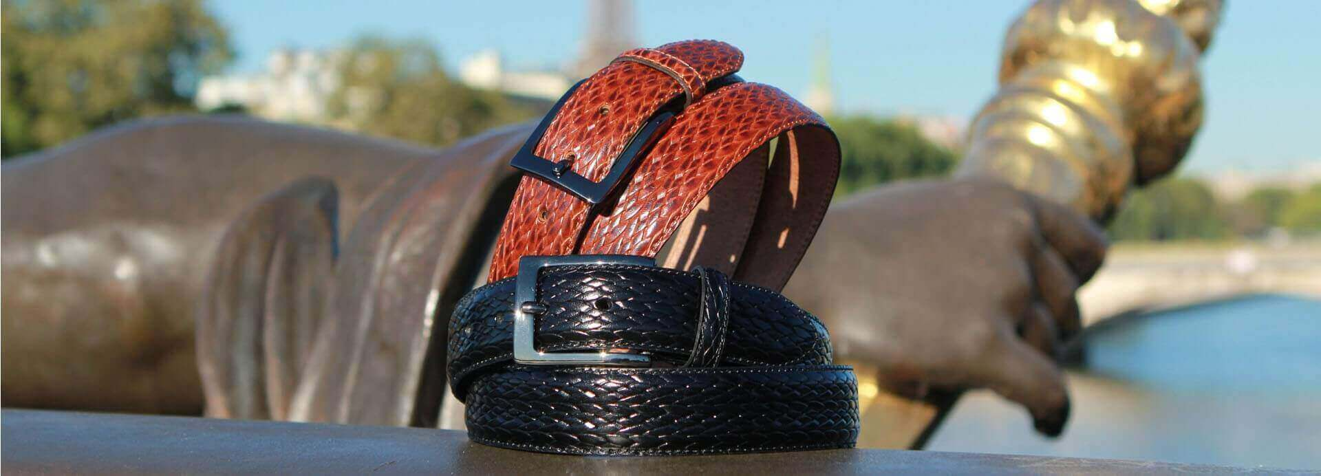 Our braided style leather belts